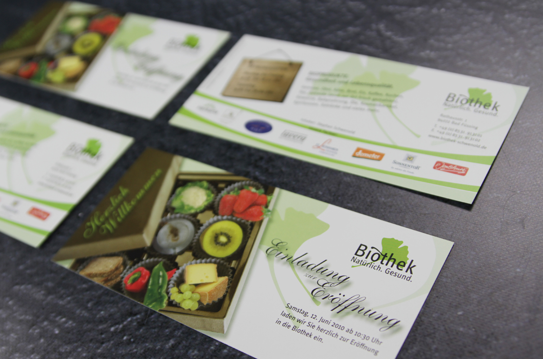 Eröffnungskarte Biothek Bad Füssing
