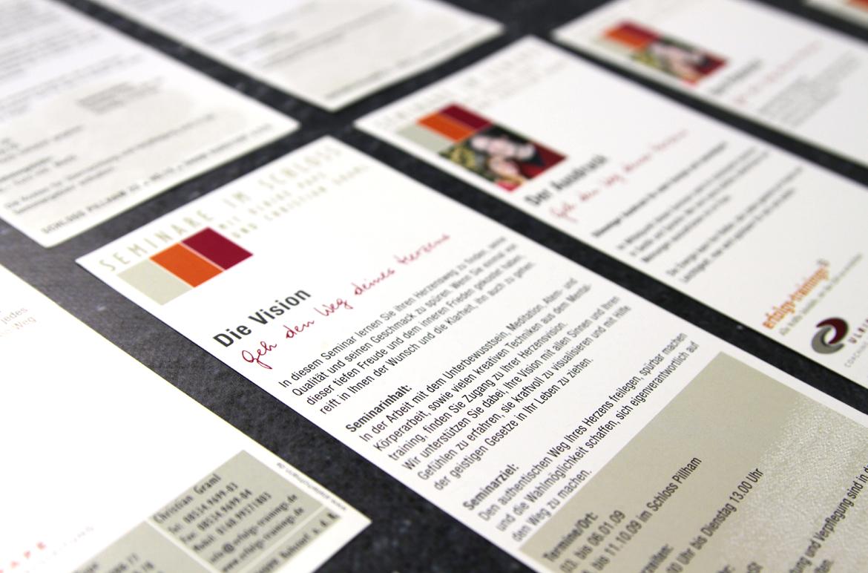Terminkarten Seminare im Schloss