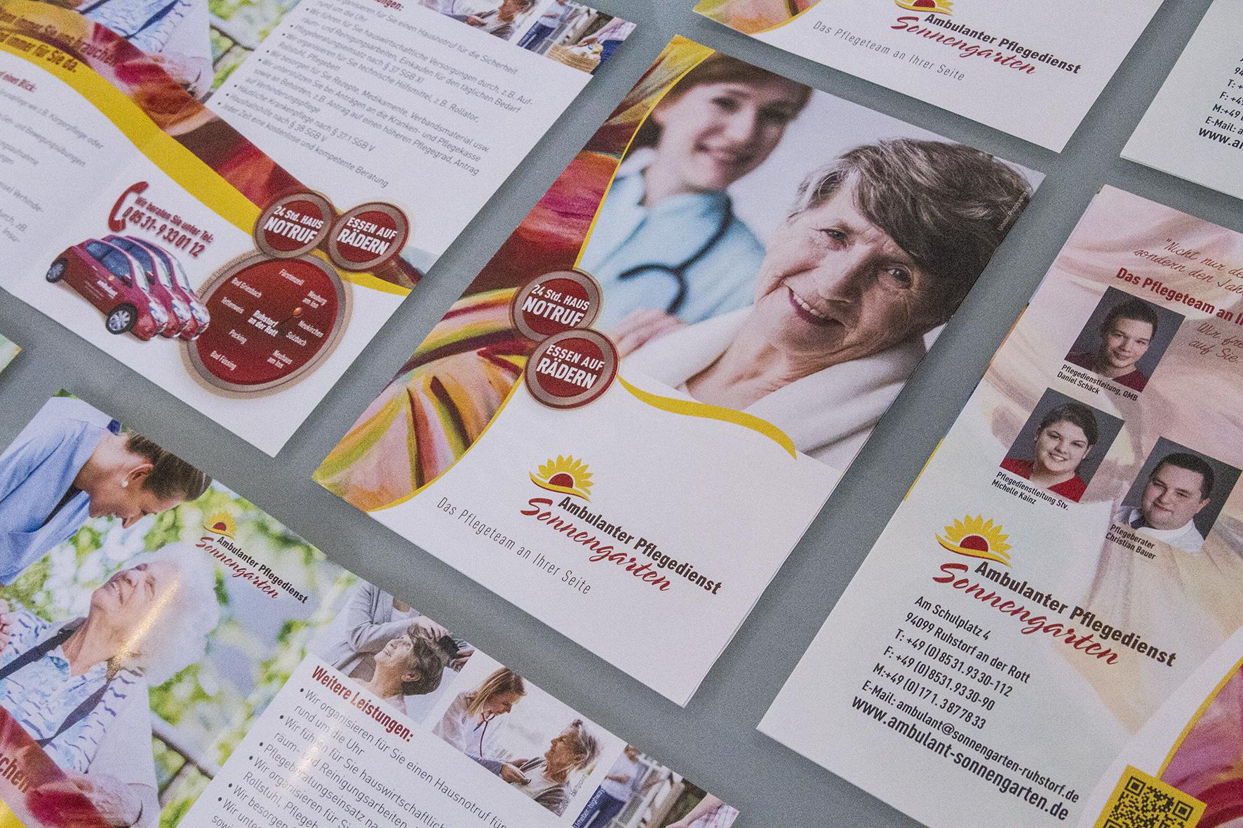 Design mit Schwung: Ambulanter Pflegedienst Sonnengarten
