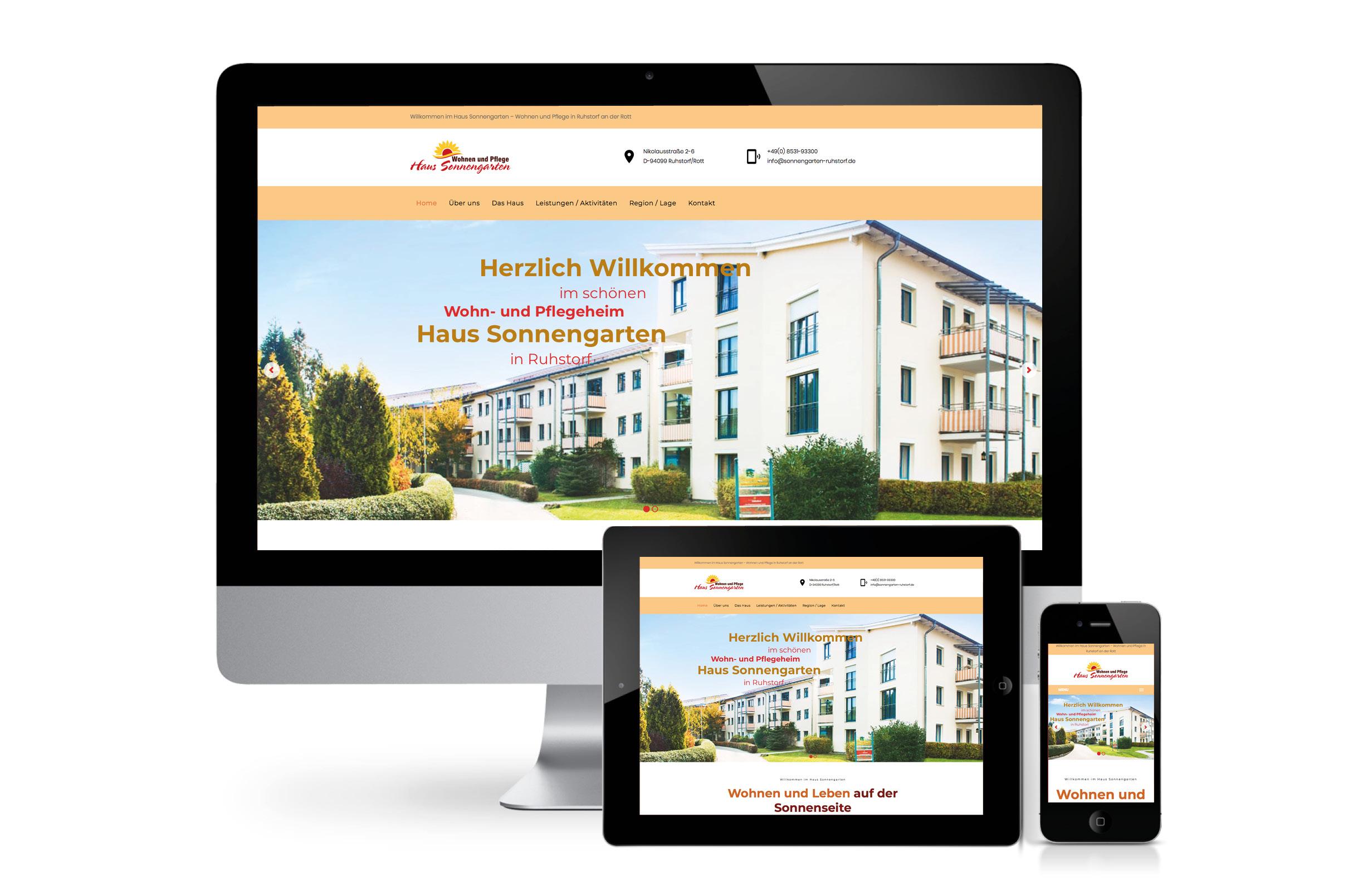 Sonne im Herzen: Neue Homepage für das Wohn- und Pflegeheim Haus Sonnengarten